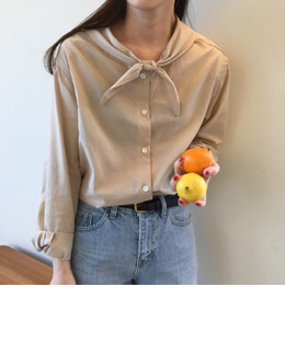 Louis tie blouse (2color)