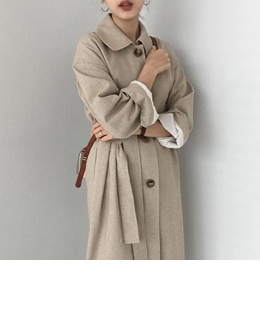 Linen single trench (2color)