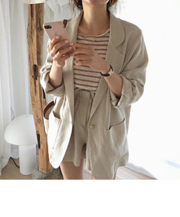 OPENING LINEN JACKET (3COLOR)