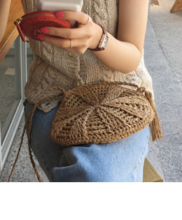 round straw bag (2color)