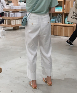 Linen herringbone pants (2color)