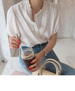 Witty eyelet blouse