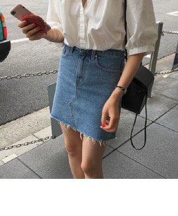 Ami denim skirt