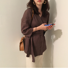 Linen robe jacket (2color)