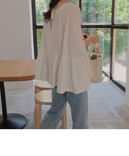 Egg blouse (2color)