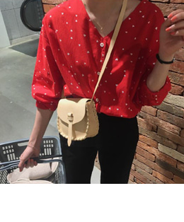 Ranee blouse (red)