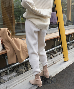 [블랙 당일출고] Mobao knit pant (3color)