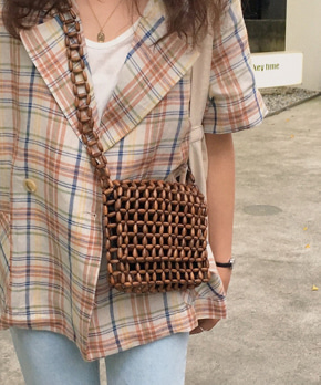 Tan wood bag