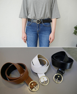 round bukle ring belt (3color)