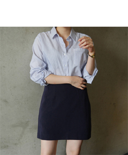 [자체제작] AND A-LINE SKIRT (navy)