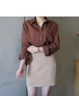 [자체제작] AND A-LINE SKIRT (soft beige)