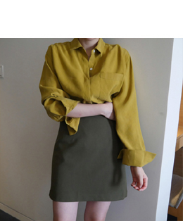 [자체제작] AND A-LINE SKIRT (khaki)