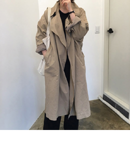 natural french trench coat (beige)