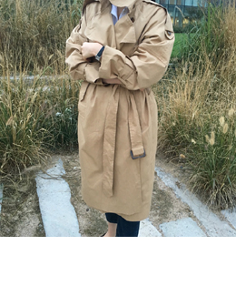 [sale] oversize trench coat (2color)