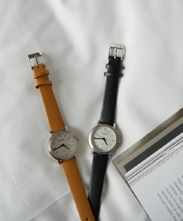 classic round watch (2color)