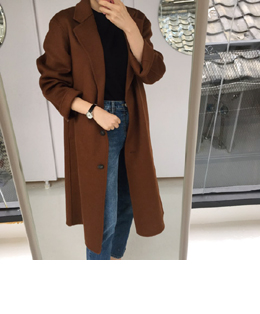 lemaire handmade coat (brown)
