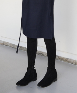 thigh knee-high boots (suede)