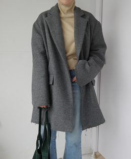 [sale] cut-off oversize coat (3color)