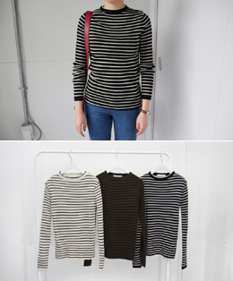 classic daily stripe knit (3color)
