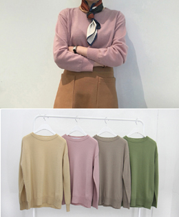spring pastel round knit (4color)